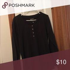 Black long sleeved shirt Henley long sleeved Woolrich Tops Tees - Long Sleeve