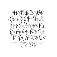 Fonts - Add text to Photos Modern Calligraphy Alphabet, Caligraphy Alphabet, Handwriting Alphabet, Hand Lettering Alphabet, Calligraphy Letters, Modern Calligraphy Quotes, Penmanship, Creative Lettering, Lettering Styles