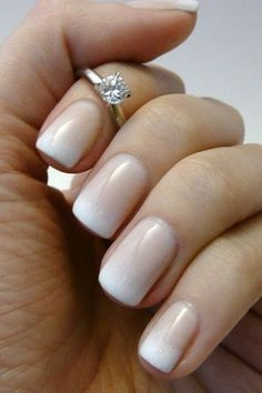 This gradient french manicure is the perfect style for wedding nails! Featured Photo via Heart Over Heels This gradient french manicure is the perfect style for wedding nails! Featured Photo via Heart Over Heels French Manicure Designs, Nail Art Designs, Nail Design, Design Design, French Nails, Shellac French Manicure, Faded French Manicure, Natural French Manicure, French Manicure With A Twist