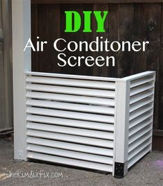 The easy DIY that will hide your outside unit air conditioner