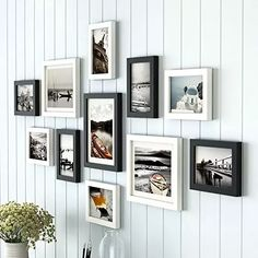 11 Pieces/Set Europe Style Black and White Color Photo Frame with Picture, Cheap Wood Wall Decor Picture Frames Set for Bedroom Wall Frame Set, Picture Frame Sets, Frames On Wall, Picture Wall, Wall Collage, Artsy Picture, Heart Collage, Modern Picture Frames, Hanging Picture Frames