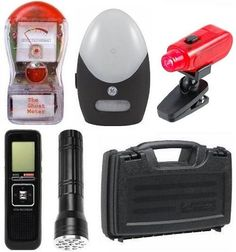 NEW Ghost Hunting Kit + Red LED Light + Equipment Case + FREE Batteries