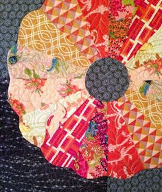 ~ tutorial and free pattern ~ Curved Edge Dresden Plate by Bari J, seen at Quilt Inspiration