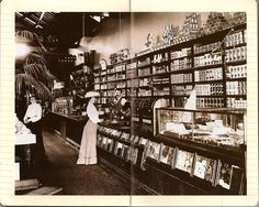 The grocery store of the late 19th century, USA.