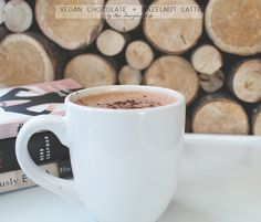 My vegan chocolate hazelnut latte is a combination of five simple ingredients. It is both a healthy and nourishing coffee option. Chocolate Hazelnut, Latte, Foodies, Healthy Eating, Herbs, Drinks, Tableware, Blog, Coffee Milk