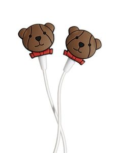 Cute Bear with Red Bow-tie #Earphones