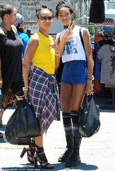 No day off from glam: Jada Pinkett Smith wore four-inch heels to bargain shop with daughte...