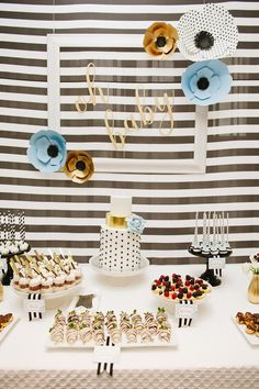 Kate Spade Inspired Baby Shower | The Little Umbrella