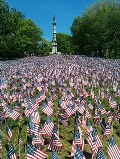Memorial day in common park, boston massachusetts