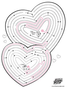 valentine day mazes coloring pages - photo#37
