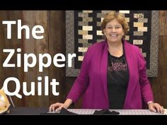 http://missouriquiltco.com -- Jenny Doan shows us how to make a fun and easy Zipper Quilt using Charm Packs or Jelly Rolls. The finish project is 40 x 45