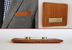 Wooden Pocket Square by TheSharpSuit on Etsy, $20.00