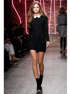 DKNY Fall Runway - this was the inspiration for a similar dress I recently made