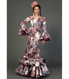 trajes de flamenca 2018 mujer - Aires de Feria - Traje de flamenca Cádiz estampado