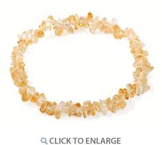 Chips Citrine Elastic Bracelet * $2.28