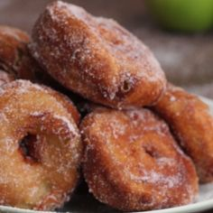 Easy Apple Doughnuts