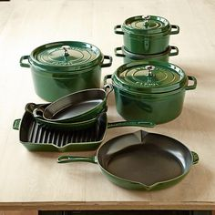 Staub Cast-Iron 12-Piece Cookware Set #williamssonoma.  I love my Staub Dutch oven and use it almost every day for something or other!