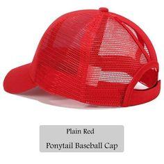 ae651a30bc0 Dad Hat CC Ponytail Snapback Baseball Cap Messy Bun Caps For Women Female  Summer Mesh Trucker Hat 2018 Fashion Girl Hip Hop Hats