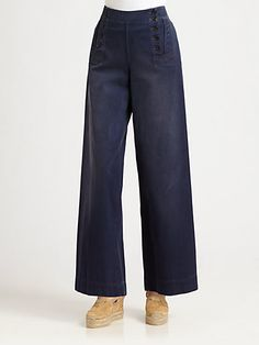 Ralph Lauren Blue Label - High-Waist Sailor Pants - Saks.com