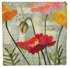 Poppies by  Kathie Briggs    2012 SAQA auction quilt