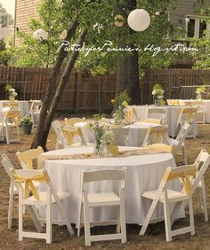 Backyard Wedding Reception by PartiesforPennies.com #weddings