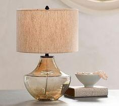 """Alana Luster Glass Table Lamp Base-Smoke #potterybarn. 12"""" diameter  x 26 high. $120"""