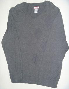**SOLD** Ben Hogan Argyle Golf Sweater Men's Large Gray Vneck Super Soft NEW NWOT  #BenHogan #VNeck