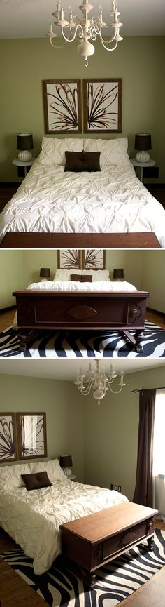 Love this.. but with the ruffle bedspread i also have pinned... with matching pillow cases