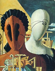The Two Masks By : Giorgio De Chirico 1926 Period:Metaphysical Art Genre:Surrealism  Italian Painters, Italian Artist, Rene Magritte, Art Visionnaire, Oil Canvas, Art Ancien, Arte Horror, Inspiration Art, Human Art