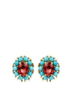 Ileana Makri sapphire, turquoise & yellow gold earrings