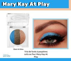 """Ask me how to get this look using Mary Kay's new At Play Baked Eye Trio """"Out of the Blue."""" my mom is a mary kay At Play Mary Kay, Selling Mary Kay, Mary Kay Party, Beauty Consultant, Mary Kay Makeup, Pretty Eyes, Eye Make Up, Makeup Tips, Makeup Ideas"""