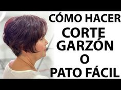 CORTE CORTO QUE HACE LUCIR JOVEN PASO A PASO / SHORT CUT THAT MAKES YOUNG LIGHT STEP BY STEP - YouTube