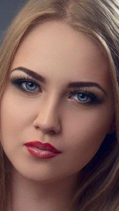 Lovely Eyes, Beautiful Lips, Pretty Eyes, Beautiful Women, Beauté Blonde, Blonde Beauty, Beautiful Blonde Girl, Beautiful Girl Photo, Cute Beauty