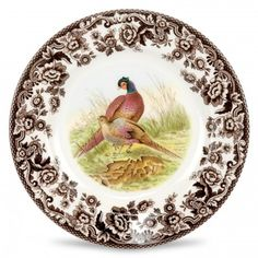 Spode Woodland Salad Plate 8 inch (Pheasant) - Woodland - Collections - Spode USA