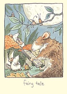 Card by Anita Jeram for two Bad Mice