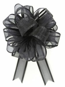 Pull A Bow Ribbon , Black, 7/8 Inch x 25 Yards (1 Spool) SALE ITEM