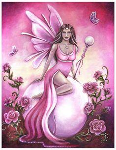 Pearl (June) Birthstone Fairy by Jennifer Galasso