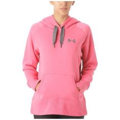 Pink Sz Small Under Armour Hoodie Received as a gift - tags were removed before I could try and exchange. Wore it twice but it doesn't really match anything I own. No damage. First picture is just an example of style and fit - NOT SAME COLOR. Under Armour Tops Sweatshirts & Hoodies