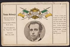 Thomas MacDonagh postcard - Taisclann Dhigiteach na hÉireann Ireland 1916, The Ira, Easter Rising, Family Genealogy, Family History, Irish, Women, Irish Language, Women's