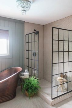 Home Remodeling Bathroom unique master bathroom - Every single item in this bathroom is sourced from Lowes (except the art and vintage rug). When designing the bath, my goal was to create a warm, unique bathroom that is accessible to all. Bathroom Interior, Modern Bathroom, Small Bathroom With Tub, Warm Bathroom, Minimalist Bathroom, Contemporary Bathrooms, Contemporary Design, Modern Design, Bathroom Renovations