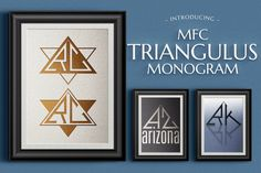 MFC Triangulus Monogram by Monogram Fonts Co. on @creativemarket