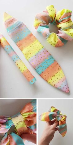 Exceptional 20 sewing hacks projects are offered on our internet site. Read more and you wont be sorry you did. Sewing For Beginners Diy, Easy Sewing Projects, Sewing Hacks, Sewing Tutorials, Sewing Crafts, Sewing Tips, Diy Hair Scrunchies, Diy Hair Bows, How To Make Scrunchies