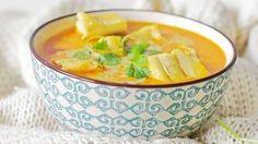 Ukens matblogg: Kremet thai-fiskesuppe uten gluten Cheeseburger Chowder, Thai Red Curry, Cantaloupe, Soup, Yummy Food, Fruit, Ethnic Recipes, Chinese, Delicious Food