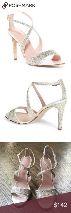 5a2135a16 Kate Spade Felicity Glitter Sparkly Sandal Heels Brand new