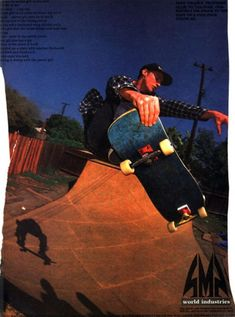 World Industries - Mike Vallely Ad I used to have this ad on my bedroom wall-Mike was and is an inspiration Skateboard Photos, Skateboard Design, Skateboard Art, Old School Skateboards, Vintage Skateboards, George Powell, Mike Vallely, World Industries, Cleveland Heights