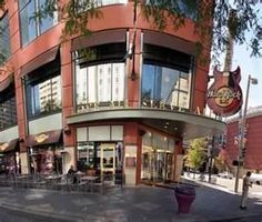 Hard Rock Cafe in Denver - We ate outside!