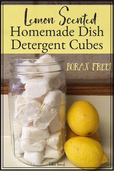 Making my own cleaning supplies allows me to save money and use ingredients that aren't harsh. Check out my Simple, Safe, and Affordable Borax-Free Homemade Dish Detergent Cubes here! Natural Cleaning Recipes, Natural Cleaning Products, Cleaning Tips, Green Cleaning, Organizing Tips, Natural Products, Homemade Dishwasher Detergent, Laundry Detergent, Dishwasher Tabs