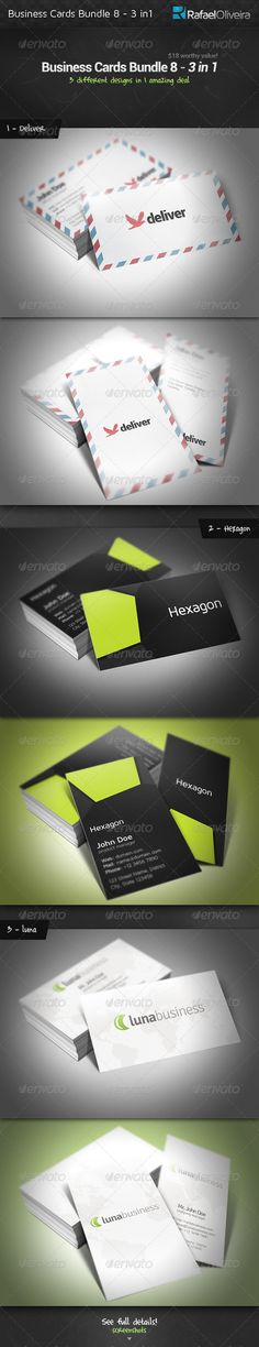 Business Cards Bundle 8 - 3 in 1