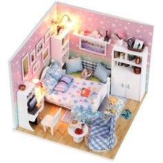 pencil printer picture from boa s store about doll house diy miniature handmade assembled wooden cabin model building kits dollhouse birthday gft toy the aliexpresscom buy 112 diy miniature doll house
