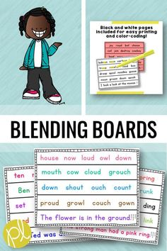 Fluency Blending Boards - There are 200 blending boards to use throughout the entire school year! I use these as instruction in small groups, but they are also perfect for taking quick data and progress monitoring. The pages follow a K-2 scope and sequence, but you can differentiate by picking and choosing pages to target specific skills. Download a free set in the preview! #blendingboards #fluency